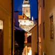Foto de Stock  : Narrow Street of Cesky Krumlov