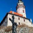 Castle Tower in Cesky Krumlov — Stockfoto