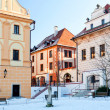 Stock Photo: Historic Houses in Cesky Krumlov