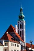 Church in Cesky Krumlov — Stock Photo