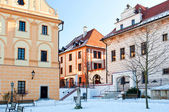 Historic Houses in Cesky Krumlov — Stock Photo
