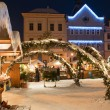Christmas Market in Litomerice, Czech Republic - Stock Photo