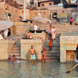 Indian in Holy Varanasi — Stock Photo