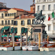 Venetian Promenade with Water Taxis - Foto Stock