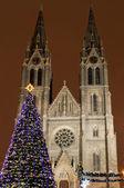 St. ludmila kirche, prag, tschechische republik — Stockfoto