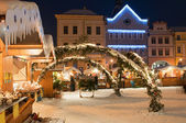 Christmas Market in Litomerice, Czech Republic — Stok fotoğraf