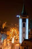 Litomerice gece, çek cumhuriyeti — Stok fotoğraf
