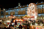 Christmas Market in Dresden — 图库照片