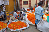 Flower Market in Kolkata — Stock Photo