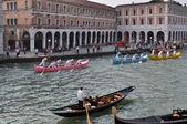 Boat Race in Venice — Stock Photo