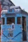 Tranvía oxidado en kolkata — Foto de Stock