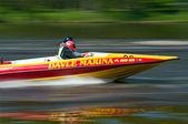 アクションのスピード ボート — ストック写真