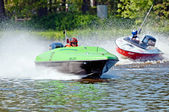 Speedboats in Action — Stock Photo
