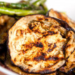 Grilled Eggplants and Asparagus — Stock Photo