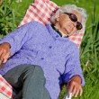 Stock Photo: Senior Woman has a Rest