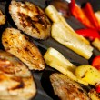 Grilled Peppers and Eggplants — Stock Photo