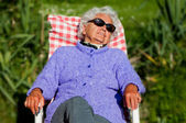 Senior Woman has a Rest — Stock Photo