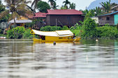 Boat on the River in Kuching — Stock Photo