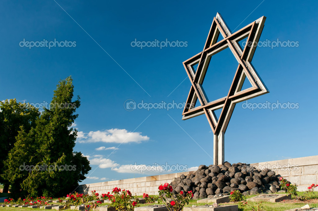 National Memorial Cemetery in Terezin. Memorial to the Holocaust. — Stock Photo #6731487