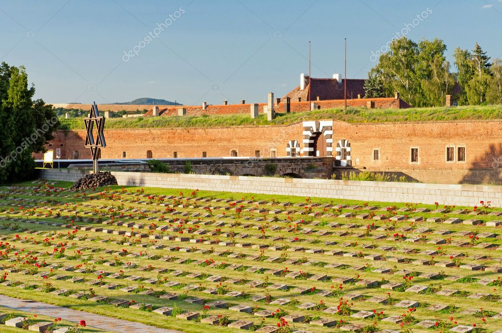 Old fort in Terezin, Czech Republic. In nowadays this is part of memorial monument of the Jewish ghetto which Terezin was during the WWII.  Stock Photo #6731498