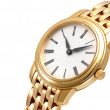 Stock Photo: Close up of golden watch