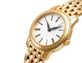 Close up of a golden watch — Stock Photo