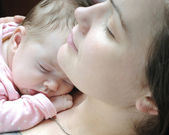 Beautiful baby girl sleeping — Stock Photo