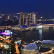 singapore harbor view at night — Stock Photo