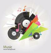 Music vector background. — Stock Vector