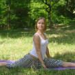 Stock Photo: Yoga on the nature