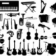 Stock Vector: Music instruments