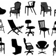 Stock Vector: Chairs
