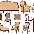 Antique furniture - Stock Vector
