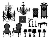 Antique furniture — Stock Vector