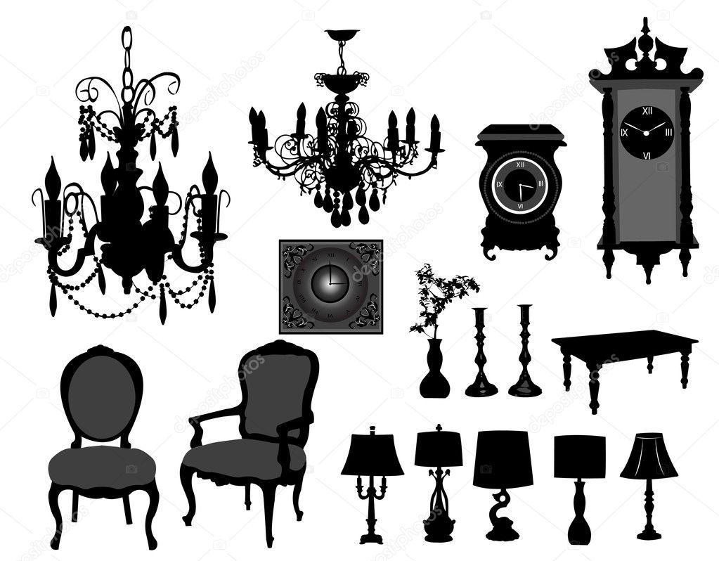 Antique furniture on t...