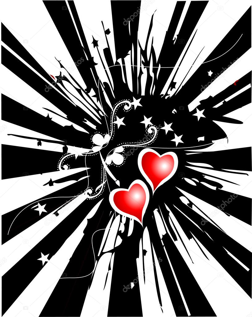 Abstract love hearts — Stock Vector #6489726