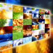 Wide media screen - Stock Photo