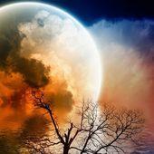 Paesaggio panoramico notturno — Foto Stock
