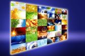 Media screen — Stock Photo