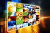 Wide media screen — Stock Photo