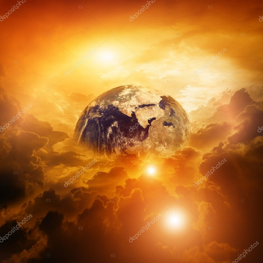 Armageddon, dramatic dark background - planet Earth disaster — Stock Photo #6487221