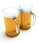Two beer mugs — Stock Photo