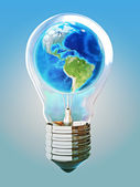 Earth light bulb concept — Stock Photo