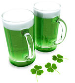 Two green beer's — Stock Photo