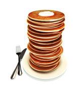 Large stack of pancakes — Stock Photo