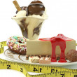 Rich calorie desserts — Stock Photo