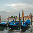 Gondolas in front of St Marks — Stock Photo #6472796