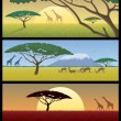 Africa Landscapes - Imagen vectorial