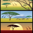 Africa Landscapes - Stockvectorbeeld