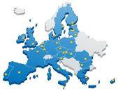European Union Map — Stock Vector